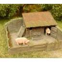 Stavebnice Model Scene - drobné stavby pro domácí zvířata.