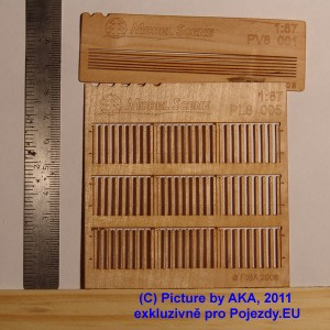 PL8005 - Wooden fence - sharp ends with gaps (H0 - scale)