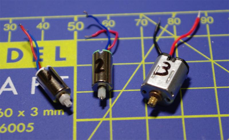 Mikromotory z modelarskych serv