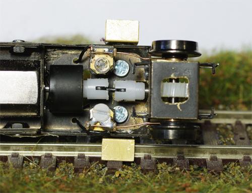 Převodovka pojezdu motorového vozu M131 v měřítku H0