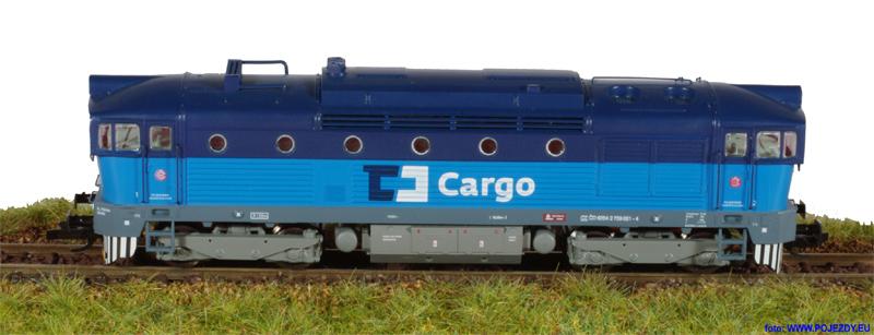 Brejlovec ČD Cargo - model lokomotivy řady 750 od fy. MTB