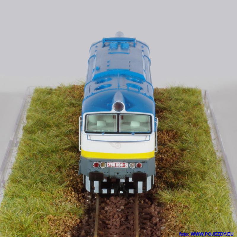 Brejlovec ŽSR - model lokomotivy řady 750 od fy. MTB