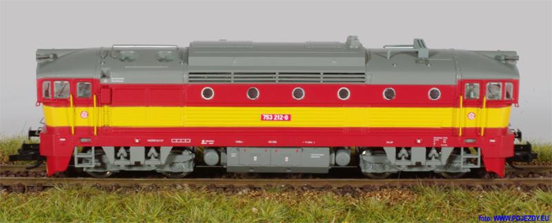 Stitek modelu lokomotivy řady 750